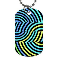 Twin Tunnels Visual Illusion Casino Art Dog Tag (one Side)