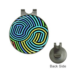 Twin Tunnels Visual Illusion Casino Art Hat Clips With Golf Markers by AnjaniArt