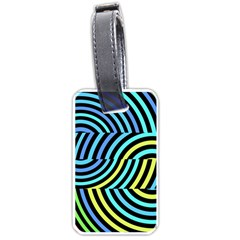 Twin Tunnels Visual Illusion Casino Art Luggage Tags (one Side)