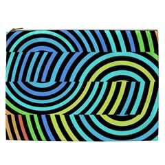 Twin Tunnels Visual Illusion Casino Art Cosmetic Bag (xxl)  by AnjaniArt