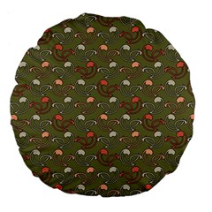 Tumblr Static Final Colour Large 18  Premium Flano Round Cushions