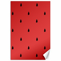 Watermelon Seeds Red Canvas 20  X 30