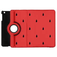 Watermelon Seeds Red Apple Ipad Mini Flip 360 Case by AnjaniArt