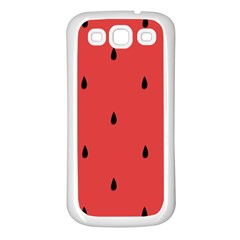 Watermelon Seeds Red Samsung Galaxy S3 Back Case (white)