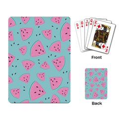 Watermelon Red Blue Playing Card