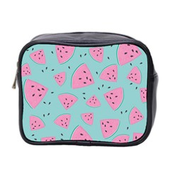 Watermelon Red Blue Mini Toiletries Bag 2 Side