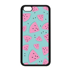 Watermelon Red Blue Apple Iphone 5c Seamless Case (black) by AnjaniArt