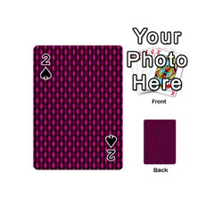 Webbing Woven Bamboo Pink Playing Cards 54 (mini)