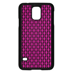 Webbing Woven Bamboo Pink Samsung Galaxy S5 Case (black)