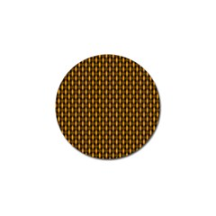Webbing Woven Bamboo Orange Yellow Golf Ball Marker (4 Pack) by AnjaniArt
