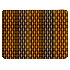 Webbing Woven Bamboo Orange Yellow Samsung Galaxy Tab 7  P1000 Flip Case by AnjaniArt
