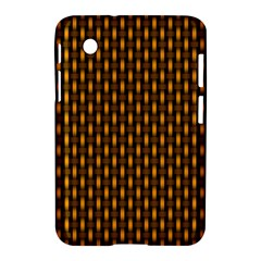Webbing Woven Bamboo Orange Yellow Samsung Galaxy Tab 2 (7 ) P3100 Hardshell Case  by AnjaniArt