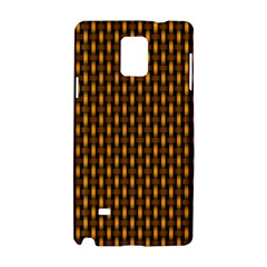 Webbing Woven Bamboo Orange Yellow Samsung Galaxy Note 4 Hardshell Case