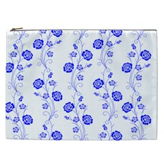 Vertical Floral Cosmetic Bag (xxl)