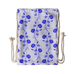 Vertical Floral Drawstring Bag (small) by AnjaniArt
