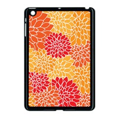 Vintage Floral Flower Red Orange Yellow Apple Ipad Mini Case (black) by AnjaniArt