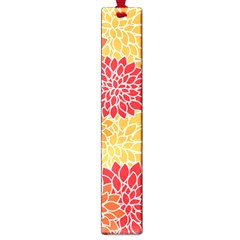 Vintage Floral Flower Red Orange Yellow Large Book Marks by AnjaniArt