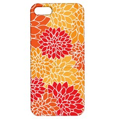Vintage Floral Flower Red Orange Yellow Apple Iphone 5 Hardshell Case With Stand by AnjaniArt