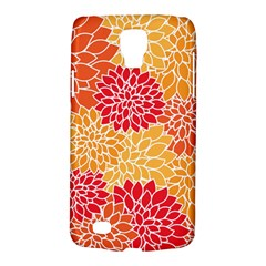 Vintage Floral Flower Red Orange Yellow Galaxy S4 Active by AnjaniArt