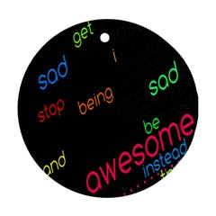 Words Jpeg Ornament (round)