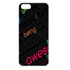 Words Jpeg Apple Iphone 5 Seamless Case (white)