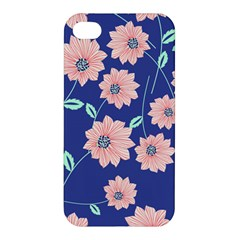Seamless Blue Floral Apple Iphone 4/4s Premium Hardshell Case
