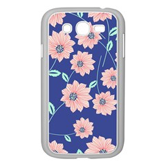 Seamless Blue Floral Samsung Galaxy Grand Duos I9082 Case (white)