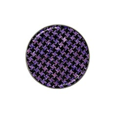 Houndstooth2 Black Marble & Purple Marble Hat Clip Ball Marker (4 Pack) by trendistuff
