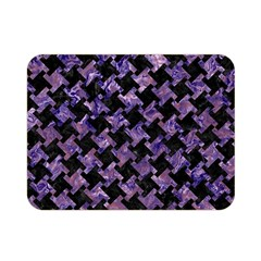 Houndstooth2 Black Marble & Purple Marble Double Sided Flano Blanket (mini) by trendistuff