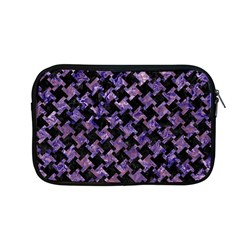 Houndstooth2 Black Marble & Purple Marble Apple Macbook Pro 13  Zipper Case by trendistuff