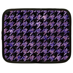 Houndstooth1 Black Marble & Purple Marble Netbook Case (xxl) by trendistuff