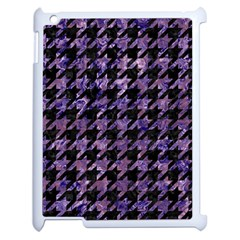 Houndstooth1 Black Marble & Purple Marble Apple Ipad 2 Case (white) by trendistuff