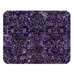 Damask2 Black Marble & Purple Marble (r) Double Sided Flano Blanket (large) by trendistuff