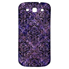 Damask1 Black Marble & Purple Marble (r) Samsung Galaxy S3 S Iii Classic Hardshell Back Case by trendistuff