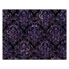 Damask1 Black Marble & Purple Marble Jigsaw Puzzle (rectangular) by trendistuff