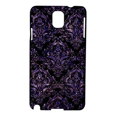 Damask1 Black Marble & Purple Marble Samsung Galaxy Note 3 N9005 Hardshell Case by trendistuff