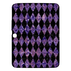 Diamond1 Black Marble & Purple Marble Samsung Galaxy Tab 3 (10 1 ) P5200 Hardshell Case  by trendistuff