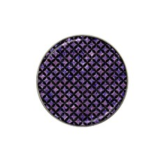 Circles3 Black Marble & Purple Marble (r) Hat Clip Ball Marker (4 Pack) by trendistuff