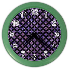 Circles3 Black Marble & Purple Marble (r) Color Wall Clock by trendistuff