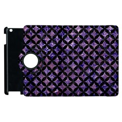 Circles3 Black Marble & Purple Marble (r) Apple Ipad 2 Flip 360 Case