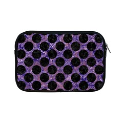 Circles2 Black Marble & Purple Marble (r) Apple Ipad Mini Zipper Case