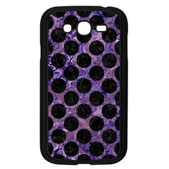 Circles2 Black Marble & Purple Marble (r) Samsung Galaxy Grand Duos I9082 Case (black) by trendistuff