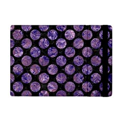 Circles2 Black Marble & Purple Marble Apple Ipad Mini 2 Flip Case by trendistuff