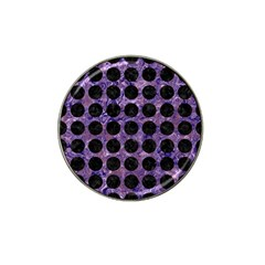 Circles1 Black Marble & Purple Marble (r) Hat Clip Ball Marker (4 Pack) by trendistuff