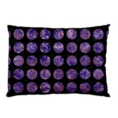 Circles1 Black Marble & Purple Marble Pillow Case (two Sides) by trendistuff