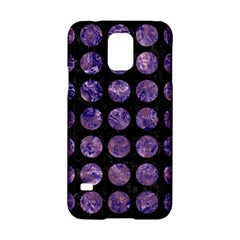 Circles1 Black Marble & Purple Marble Samsung Galaxy S5 Hardshell Case  by trendistuff