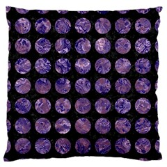 Circles1 Black Marble & Purple Marble Standard Flano Cushion Case (one Side) by trendistuff
