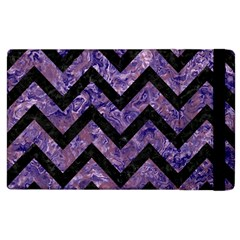 Chevron9 Black Marble & Purple Marble (r) Apple Ipad 3/4 Flip Case by trendistuff