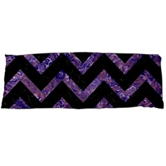 Chevron9 Black Marble & Purple Marble Body Pillow Case Dakimakura (two Sides) by trendistuff