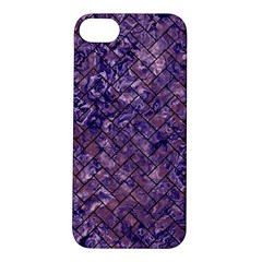 Brick2 Black Marble & Purple Marble (r) Apple Iphone 5s/ Se Hardshell Case by trendistuff